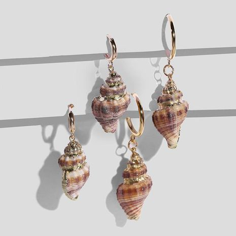 Womens Conch Sea Shell Seashell Other Earrings NHAS120989's discount tags