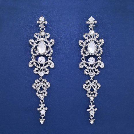 Womens wavy rhinestone alloy ocesrio Earrings NHAS121004's discount tags