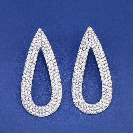 Womens teardrop electroplated alloy Full drill hollow  ocesrio Earrings NHAS121008's discount tags