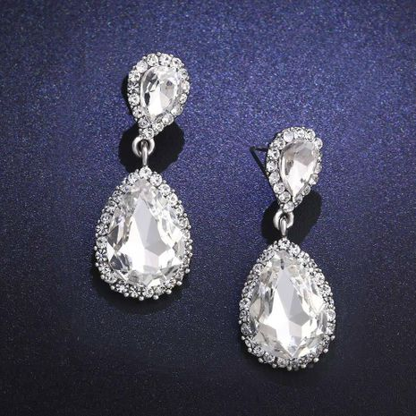 Womens Dripping Rhinestones Other Earrings NHAS121020's discount tags