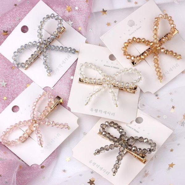 Womens Duckbill clip super flashing bow Hair Accessories NHOF121031