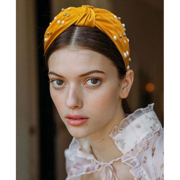 Womens U-shaped beads headband bow Hair Accessories NHMD121034