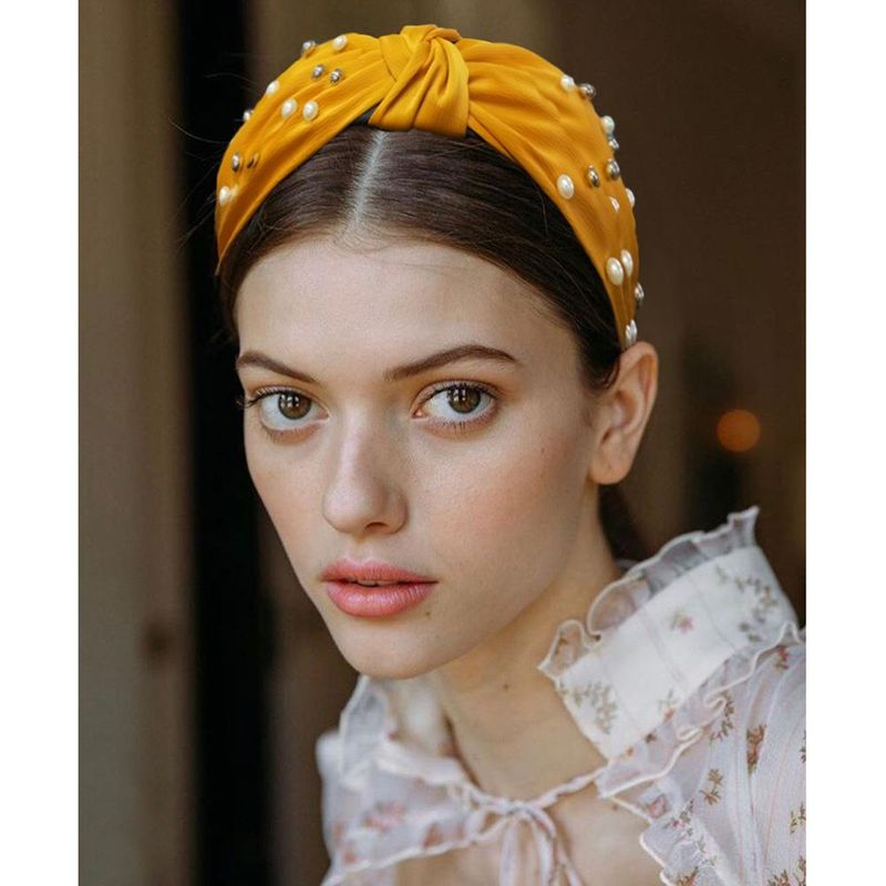 Womens Ushaped beads headband bow Hair Accessories NHMD121034