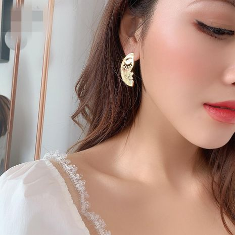 Womens Geometry Electroplating Alloy Earrings NHMD121038's discount tags