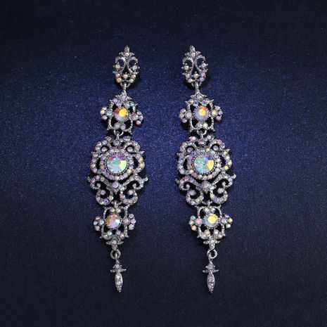 Womens GeometricExaggerated long section  Rhinestone Alloy Earrings NHAS121054's discount tags