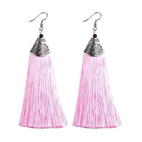 Womens Tassel Silk Earrings NHAS121055's discount tags