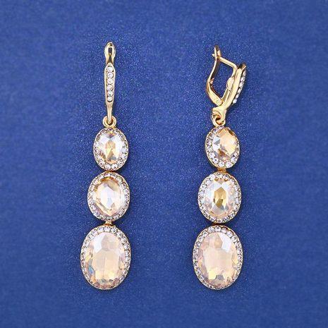Womens Geometric Rhinestone Alloy Soaring Earrings NHAS121057's discount tags