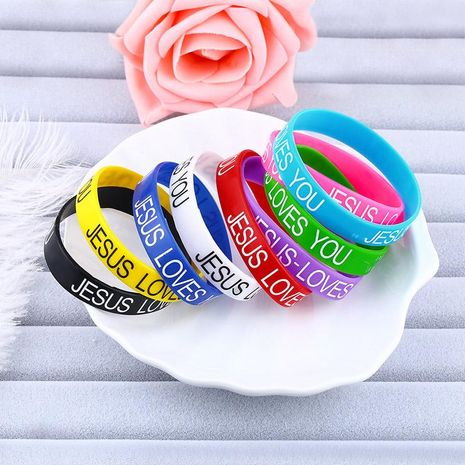 Unisex Geometric Silicone Sports Series Bracelets & Bangles NHAS121060's discount tags