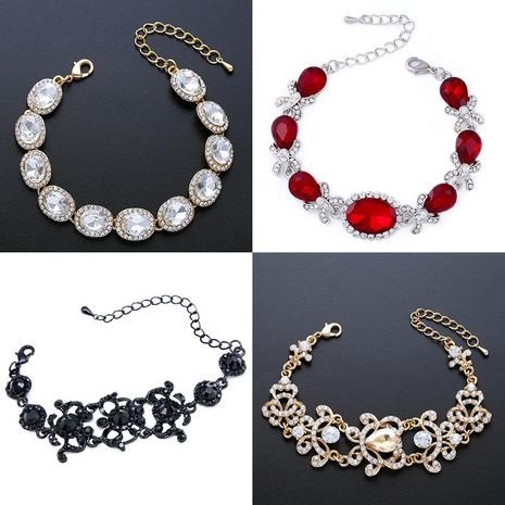 Womens Geometric Imitated crystal Specials Bracelets & Bangles NHAS121066's discount tags