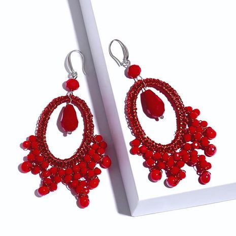 Womens Geometric Plastic Resin Soaring Earrings NHAS121067's discount tags