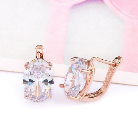 Womens Rhinestone Rose alloy prismatic zircon  Earrings NHAS121071's discount tags