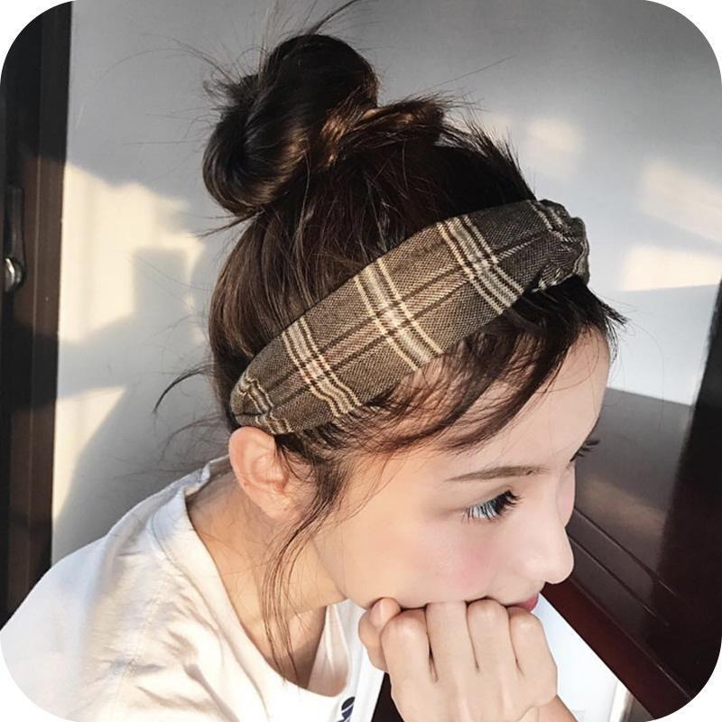 Womens Clothing  Sweet cross elastic wide side Hair Accessories NHOF121075