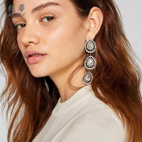 Womens Drop-shaped Electroplating Alloy Earrings NHMD121079's discount tags