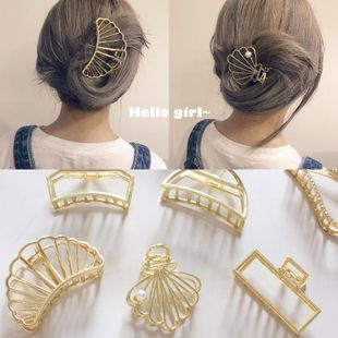 Retro minimalist wind metal Hair Accessories NHOF121107's discount tags