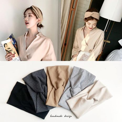 Mode féminine tissage noeud croisé vêtements accessoires pour cheveux NHOF121110's discount tags