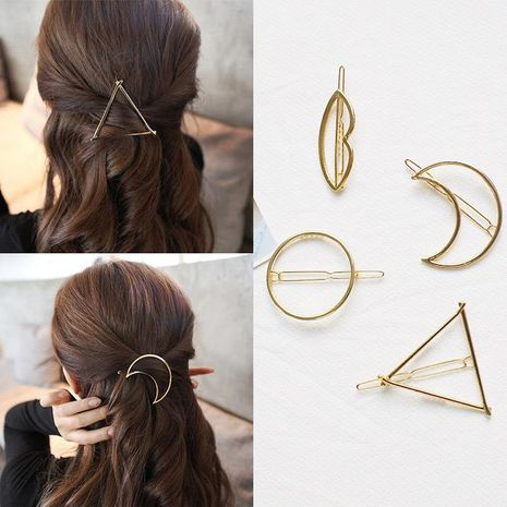 Fashion Simple geometric bangs clip NHOF121121's discount tags