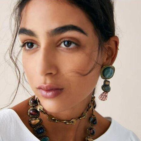 Womens Sun God  Moon God Drop Oil Alloy Earrings NHMD121125's discount tags