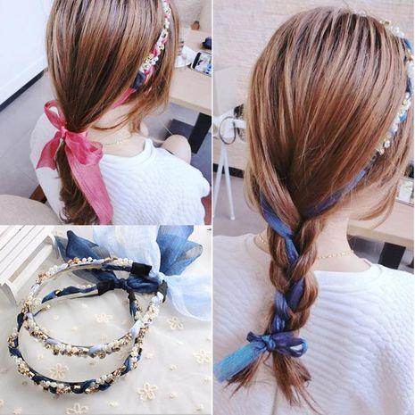 Womens clothing Ribbon strap Hair Accessories NHOF121138's discount tags