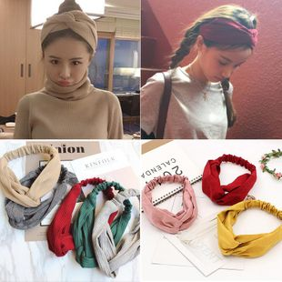 Womens Water Droplet Cross elastic  Cloth Hair Accessories NHOF121143's discount tags