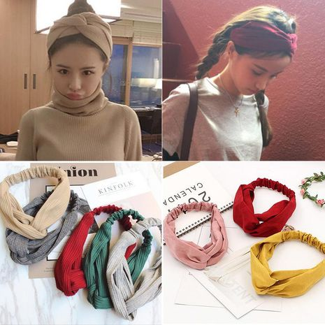 Womens Water Droplet Cross elastic  Cloth Hair Accessories NHOF121143's discount tags
