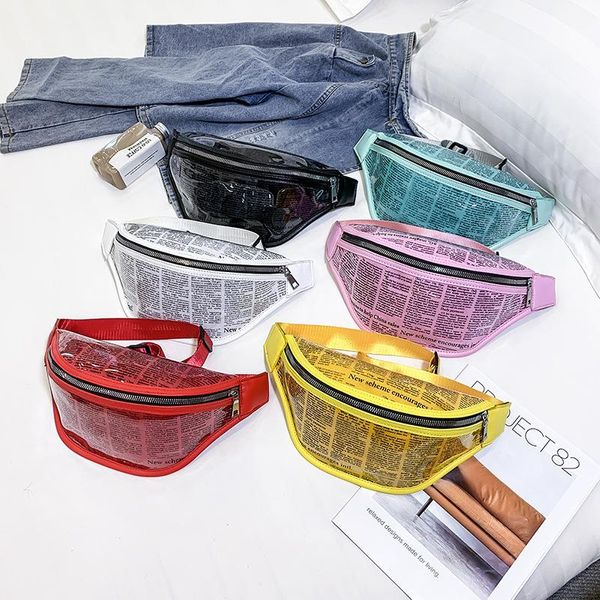 Transparent jelly bag buckle one shoulder slung pocket NHLD121252
