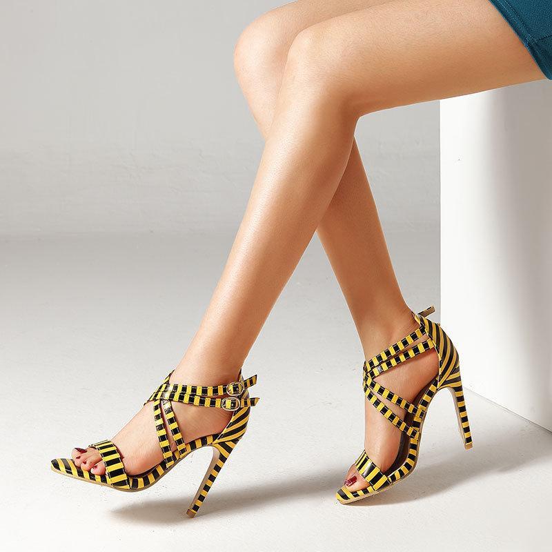 Fashion fish mouth stiletto heel women s sandals NHPL121274