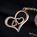Womens HeartShaped Alloy  Necklaces NHAS120828