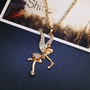 Womens Angel Rhinestone Alloy Necklaces NHAS120854
