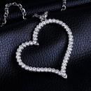 Womens HeartShaped Rhinestone Necklaces NHAS120932
