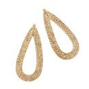 Womens teardrop electroplated alloy Full drill hollow  ocesrio Earrings NHAS121008
