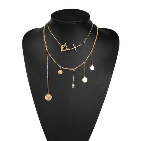 Womens other electroplated alloy Necklaces NHMD121311's discount tags