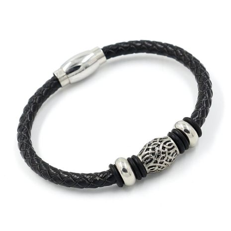 Unisex Geometry Plated Braided string beads  Stainless Steel Bracelet NHHM121331's discount tags