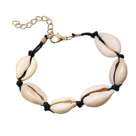Womens Geometric  Fashion personality, summer style weaving Shell Bracelet NHSD121371's discount tags