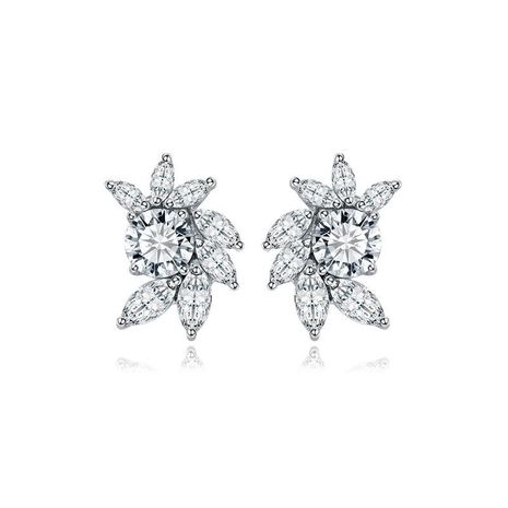 Womens Fashion Floral Plating Earrings NHTM121375's discount tags