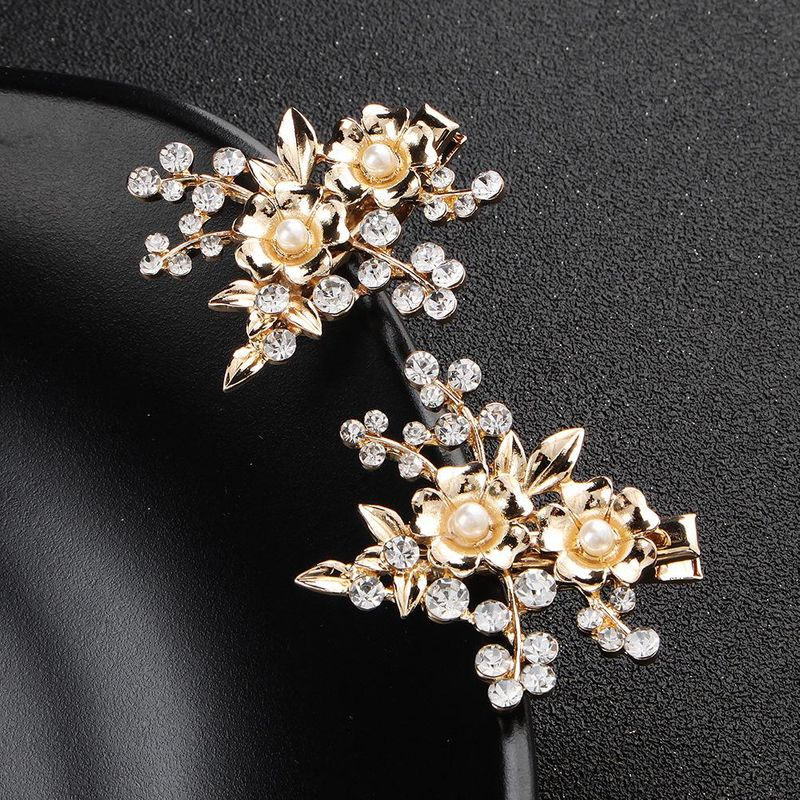 Womens Floral Rhinestone Alloy Hair accessories NHHS121378