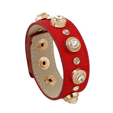 Womens geometric leatherette Bracelet NHPK121383's discount tags