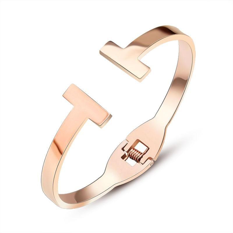 Unisex Heart Shaped Stainless Steel Bracelet NHOK121397