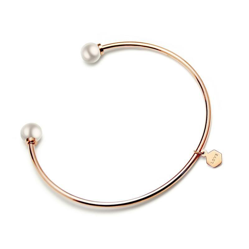 Womens Geometric Stainless Steel Bracelet NHOK121398