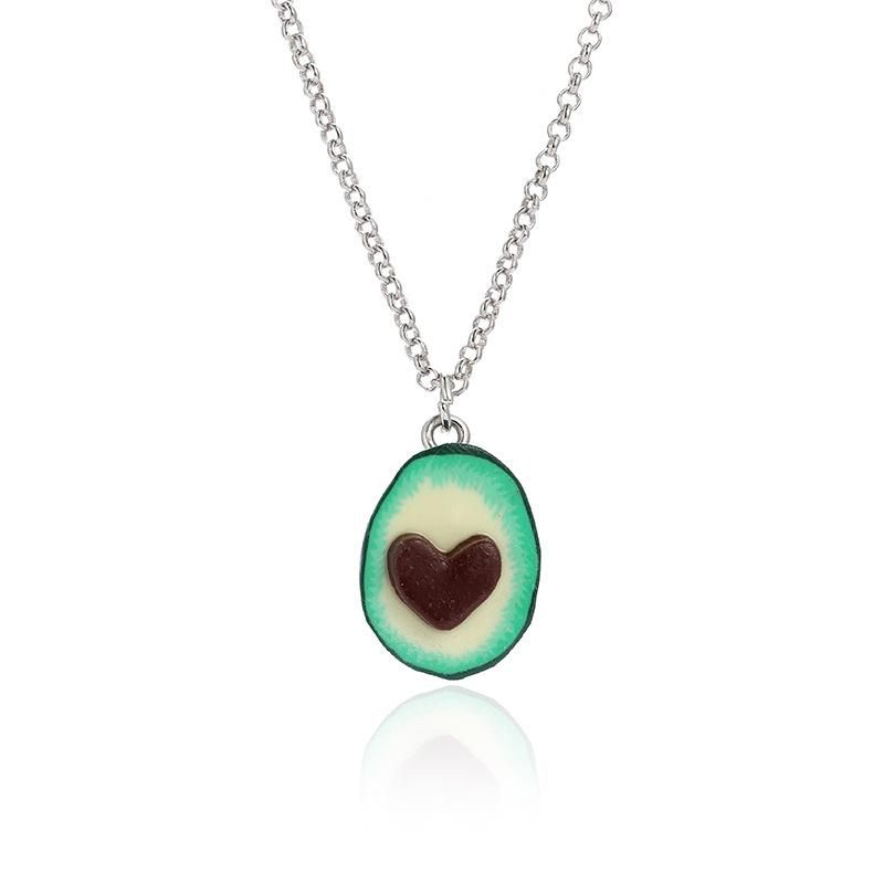 Womens Fruit Plating Alloy Fashion new avocado  Necklaces NHSD121429