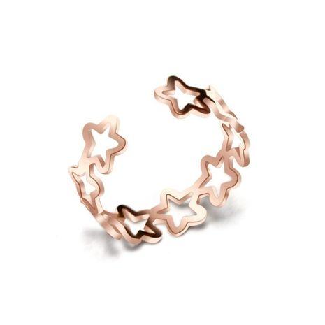 Womens Star Plating Little star hollow  Titanium Steel Rings NHOK121441's discount tags