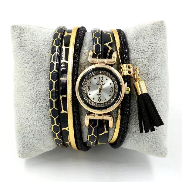 New fringed women s rhinestone winding watch bracelet watch NHHM121442