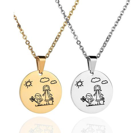 Womens geometric plating stainless steel Necklaces NHHF121451's discount tags