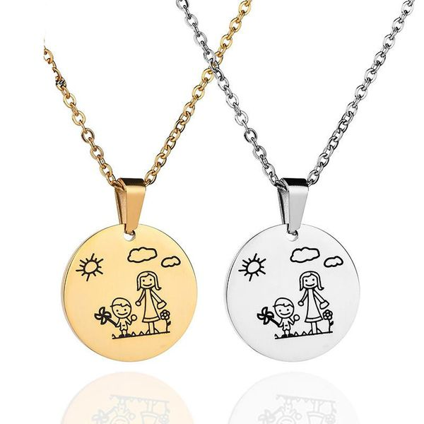 Womens geometric plating stainless steel Necklaces NHHF121451
