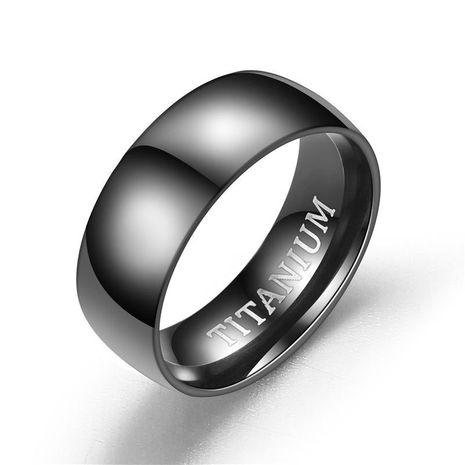 Unisex U-shaped Fashion atmosphere nobles matte inside and outside ball  stainless steel Rings NHTP121470's discount tags