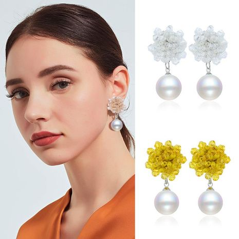 Womens Geometric Plastic Original beads  Resin Earrings NHKQ121478's discount tags