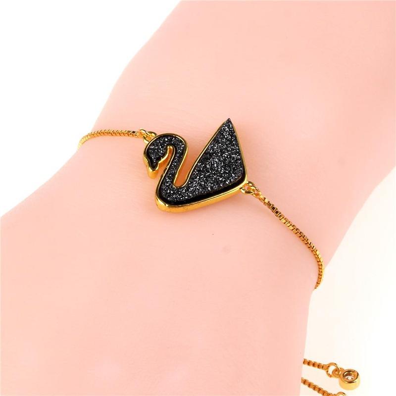 Feminine  Zodiac Imitated crystal Fashion Imitated crystal Cluster Swan Bracelet NHPY121485