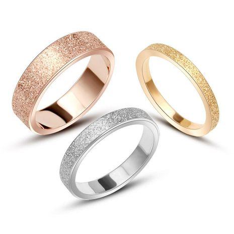 Geometric Stainless Steel  Frosted Ring NHOK121502's discount tags
