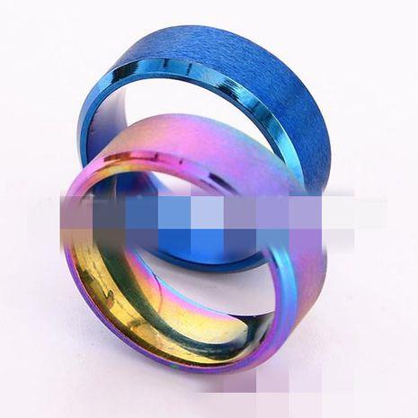Moda unisex Geometry Classic doble biselado mate Acero Anillos de titanio NHTP121501's discount tags