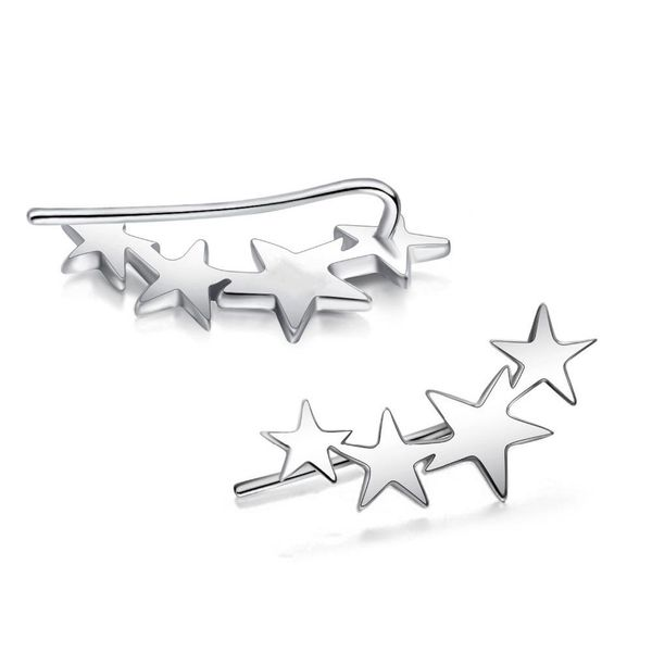 Womens Star Plating Alloy Earrings NHJJ121557