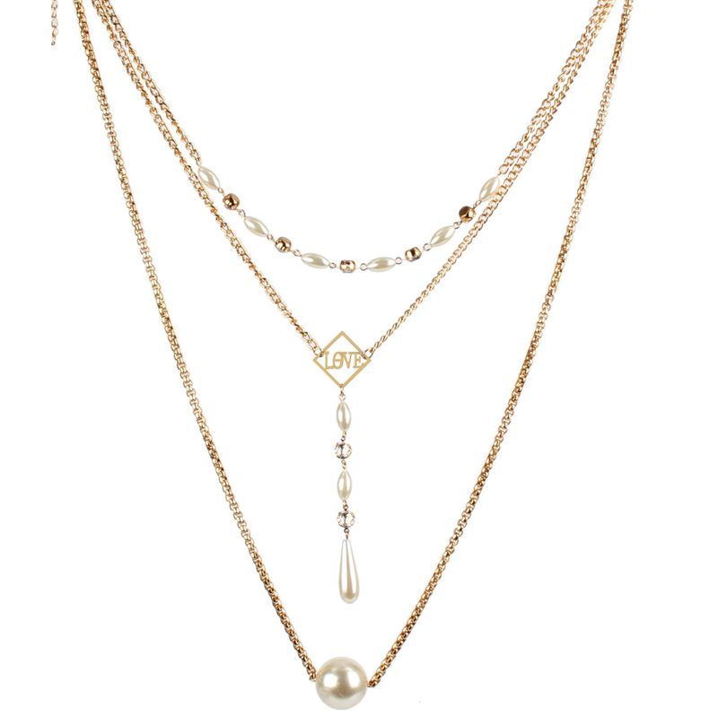 Womens Geometry Electroplated Aluminum Necklaces NHCT121562